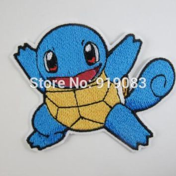 "3"" Squirtle Pokemon Go patch Comics tv movie Embroidered Emblem applique iron on patch halloween cosplay costume"