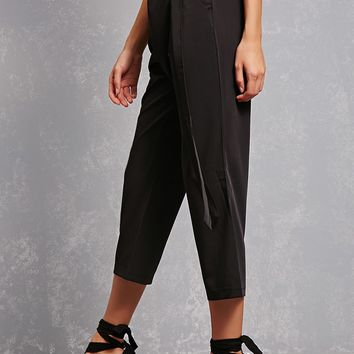 Tie-Waist Cropped Pants