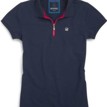 Sperry Top-Sider Sperry Signature Pique Polo PeacoatNavy, Size L  Women's