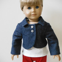 18 inch Doll Clothes fits American Girl - Cropped Denim Jacket