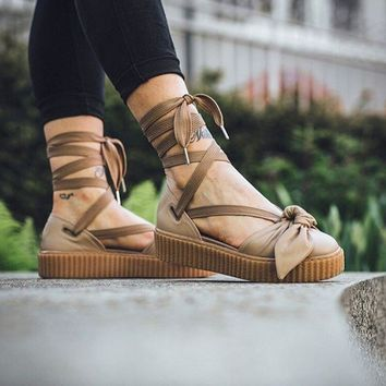 Puma Fenty x Rihanna Bow Creeper Sandals 'Natural/Oatmeal'