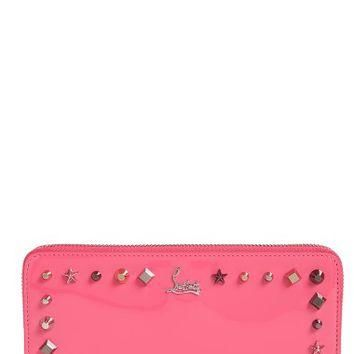 Christian Louboutin Panettone Studded Patent Leather Wallet | Nordstrom