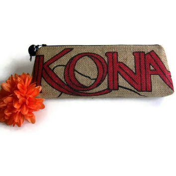 Burlap Clutch Kona Joe Coffee Bag MADE TO ORDER by ManilaExtract