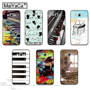 MaiYaCa Piano Keys Musical luxury Painted cover Hard Plastic PC Phone Accessories Case For Samsung J1 J3 J5 J7 2015 2016 case