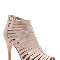 Nude Woven Strapped Single Sole Heels