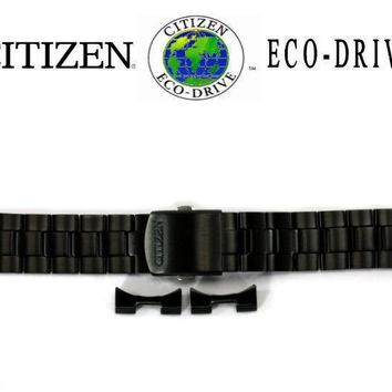 Citizen Eco-Drive CA0435-51E 22mm Black Ion Plated Stainless Steel Watch Band
