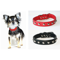 Hip Doggie Silver Stud Collars for Dogs