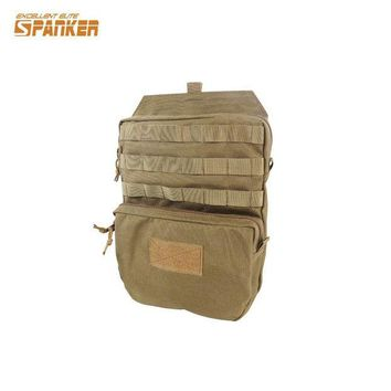VONE05L Military Tactical Molle Hydration Bladder Carrier Pack Load Bearing Backpack Airsoft Paintball Hunting Camping Hiking 1000D Bag