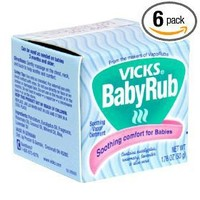Vicks BabyRub Soothing Ointment, 1.76 Ounce (Pack of 6)