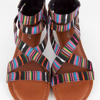 Maniac Aztec Sandals $11 (on sale from $32)