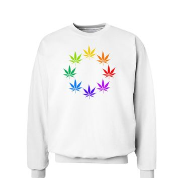 Rainbow Pot - Marijuana Leaf Sweatshirt