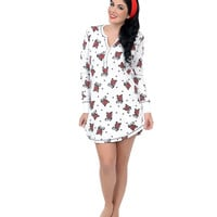 Ivory Tattoo Love Thermal Nightshirt