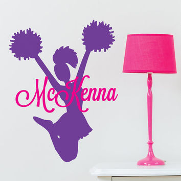 Cheerleading Signs - Cheerleader Sign - Cheerleading Gifts - Cheerleader Gifts - Cheerleader Decal - Wall Decor - Wall Decals - Wall Stickers