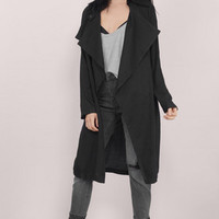 Cloudy Skies Draped Trench Coat $68