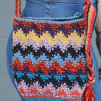 Vintage Knit Rainbow Bag