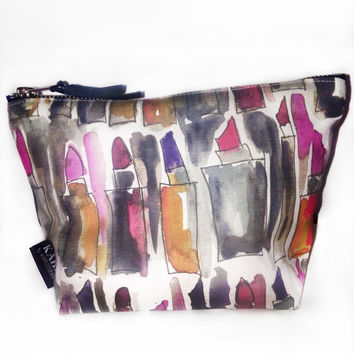 Messy Lipstick T Bottom Cosmetic Bag