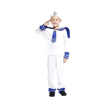 Boys sailor navy Cosplay Children's day Christmas Halloween Costume Rave party Carnival Masquerade Stage performance play dress