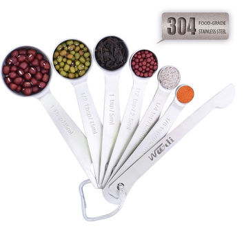 Measuring Spoons Wuudi 304 Stainless Steel Measuring Spoons set of 8 with Egg...