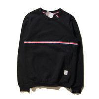 Hoodies Stripes Pullover Set Couple Jacket [9070639875]