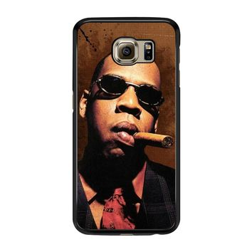 Jay-Z Cigar Glasses Tie Vest 01  Samsung Galaxy S6 Case