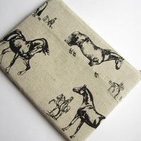 Horses MacBook 13 sleeve with zipper and pockets, MacBook Air/Pro 13 sleeve, MacBook Air 13 case, MacBook Pro 13 Retina sleeve, MacBook case