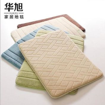 DCCKWQA Carpets For Bathroom 40*60cm / 50*80cm, Candy 13-Color Rugs ,Antiskid Area Mat Coral Fleece Carpet Kitchen absorbent pads