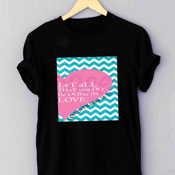 Pink Heart Chevron Bible 1 Corinthians - T Shirt for man shirt, woman shirt XS / S / M / L / XL / 2XL / 3XL *01*