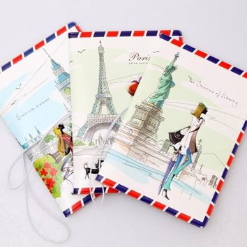 Women love travel passport cover passport stamps case fashion envelope card holder travel essentials