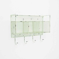 Metal Wall Shelf in Green - Urban Outfitters