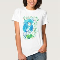 Adorable Blue-Haired Bride T-shirt
