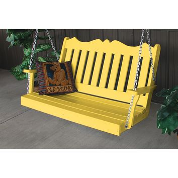 A&L Furniture Company Royal English Recycled Plastic 4ft Porch Swing  - Ships FREE in 5-7 Business days