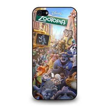 zootopia characters disney iphone 5 5s se case cover  number 1