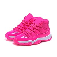 Air Jordan 11 Retro GS Pink/White AJ11 Sneakers