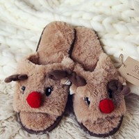 Dreamy Reindeer Slippers