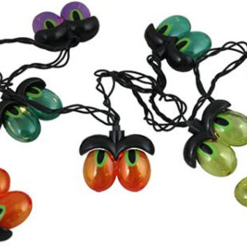 Eyeball Halloween Lights - 10 Concave Wide Angle Bulbs