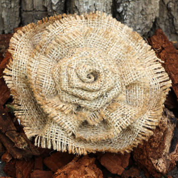 Rustic Shabby Shic Burlap Flowers Set of 3 handmade fabric rosettes with lace Cake topper Burlap roses Wedding Flower Hessian Flowers Decor