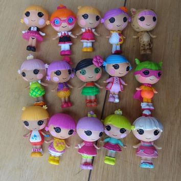 10pcs/set many kinds of lalaloopsy figures 3cm contain mermaid dolls Mini girls' action kawaii toy with animal toy baby dolls