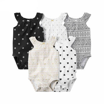 Baby Clothing Rompers 2016 New Arrival Baby Girl's Newborn Sleeveless O-Neck Vest Type Climbing Cotton Fashion  Clothes SMT-119