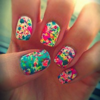 Paint Splatter Nails - FPgirl Style Mag