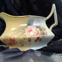 Gorgeous Vintage Pitcher Creamer German Vintage China Pink Roses Shabby Chic Cottage Style Germany