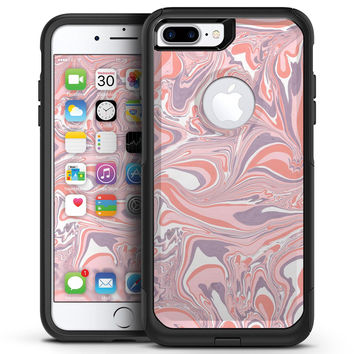 Marbleized Swirling Pink and Purple v3 - iPhone 7 or 7 Plus Commuter Case Skin Kit