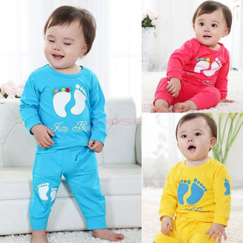 High Quality 100% Cotton Baby Clothing Set Toddler Boys Girls Summer Clothes sets Baby Kids SV012137|26601 = 1745482180