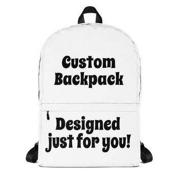 Custom Backpack Laptop Bag | Custom Bag | Custom Book Bag | Personalized | Custom Print Photo | Back To School | DIY | Bespoke | Unique Gift
