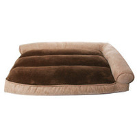 Top Paw™ Microtec™ Right-Angle Bolster Lounger Dog Bed
