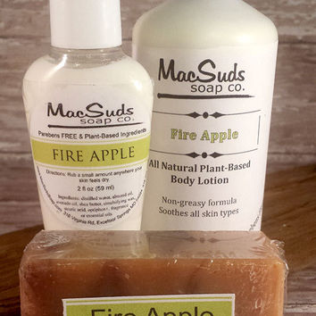 FIREBALL WHISKEY, Cinnamon Apple Spicy Scented, Handcrafted Natural Organic Soap, Fire Apple Soap our signature blend