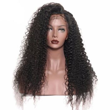 Attractive Curly Lace Front Human Hair Wigs For Black Women