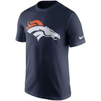 Denver Broncos T-Shirt Men's Essential Logo Navy Nike NFL