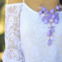 Teardrops On My Guitar Necklace: Purple | Hope's