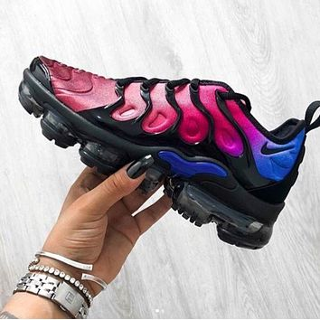 Nike Air Vapormax Plus Triple Running Sneakers Sport Shoes Purple Blue Tail