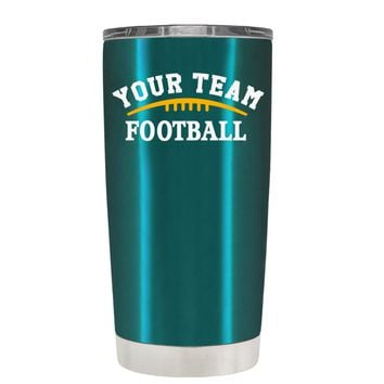 TREK Custom Football Team on Teal 20 oz Tumbler Cup